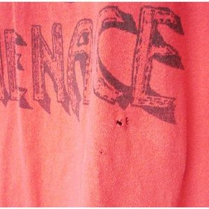 Shirts - Anus the Menace Red Black Band Tshirt XL VGC